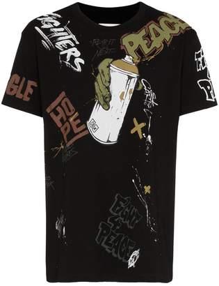 Faith Connexion graffiti tag cotton t-shirt