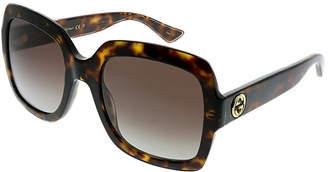 Gucci Women's Rectangular 54Mm Sunglasses