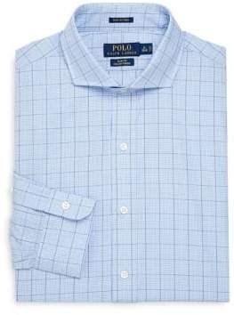 Ralph Lauren Slim-Fit Windowpane Cotton Dress Shirt