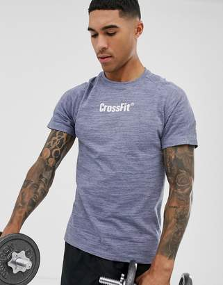 Reebok Crossfit melange t-shirt in navy