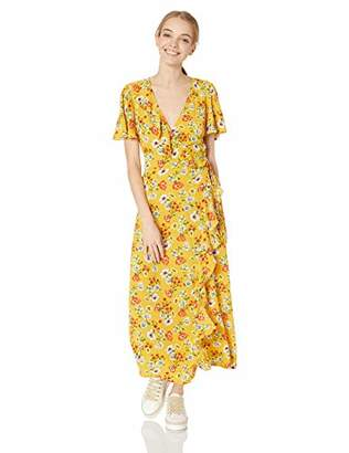 Speechless Junior's Short Sleeve Mid-Length Wrap Dress