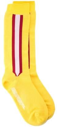 Calvin Klein side stripe knee-high socks