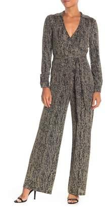 Modern American Designer Metallic Knit Jumpsuit