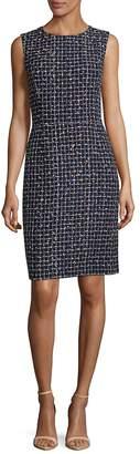 Oscar de la Renta Women's Wool-Blend Grid Shift Dress