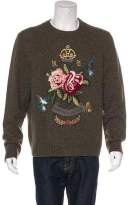 Ralph Lauren Purple Label Embroidered Cashmere Sweater w/ Tags