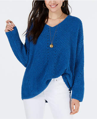 Style&Co. Style & Co Petite Chenille V-Neck Sweater