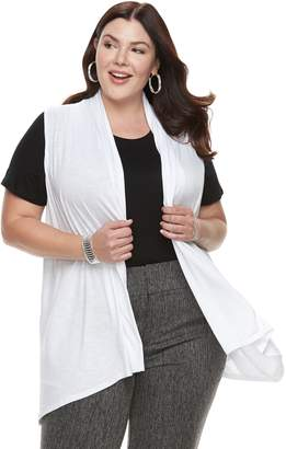 Apt. 9 Plus Size Sleeveless Cardigan
