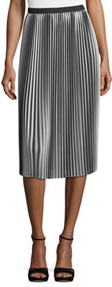 Eileen Fisher Ombre Pleated Midi Skirt