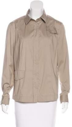 Akris Punto Long Sleeve Button-Up Top