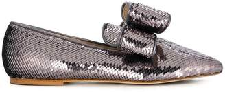 Polly Plume sequin embellished loafers