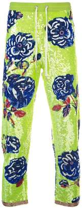 Ashish rose sequin trousers