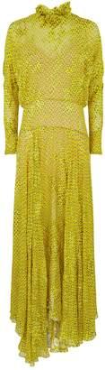 Preen Mary Geometric Ruffle Dress