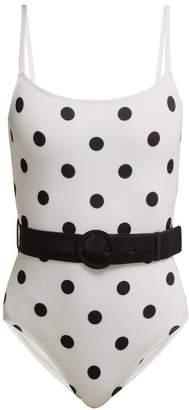 Solid & Striped Nina Polka Dot Swimsuit - Womens - White Black