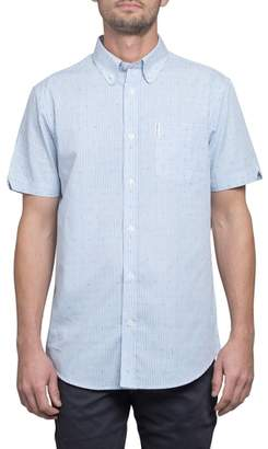 Ben Sherman Slim Fit Stripe Short Sleeve Sport Shirt