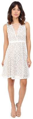 Adrianna Papell V Inset Fit Flare Lace Dress Women's Dress