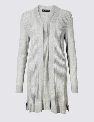 Marks and Spencer Ribbed Longline Cardigan