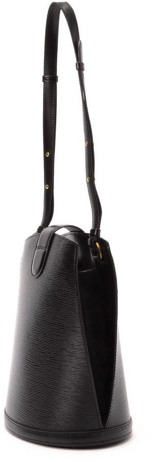 Louis Vuitton Pre-Owned: black epi leather 'Cluny' shoulder bag