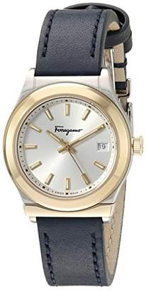 Salvatore Ferragamo Women's 1898' Quartz Gold-Tone and Leather Watch