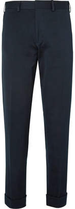 Dries Van Noten Tapered Cotton And Linen-Blend Twill Trousers