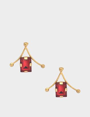 Marni Metal and crystal earrings