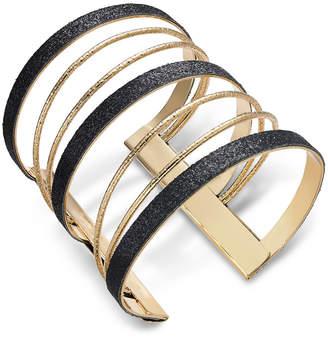 Thalia Sodi Gold-Tone Sugar Glitter Multi-Row Cuff Bracelet