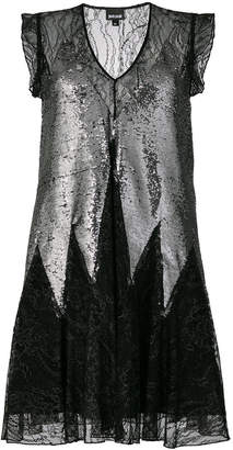 Just Cavalli lace and sequin mini dress