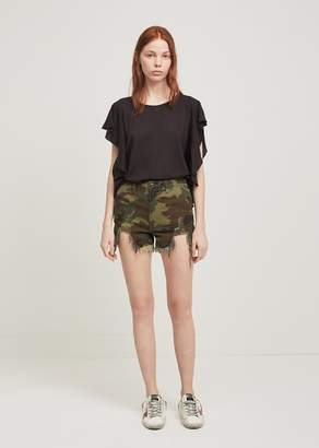 R 13 Camo Distressed Camp Shorts
