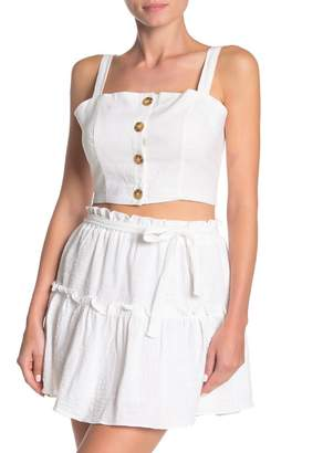 Cotton On Carla Button Front Cropped Tank Top