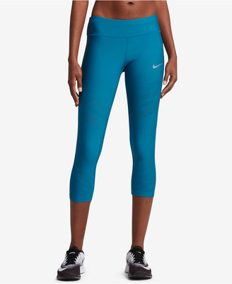 Nike Dri-FIT Cropped Running Leggings $100 thestylecure.com