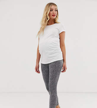 Asos DESIGN Maternity over the bump legging in marl