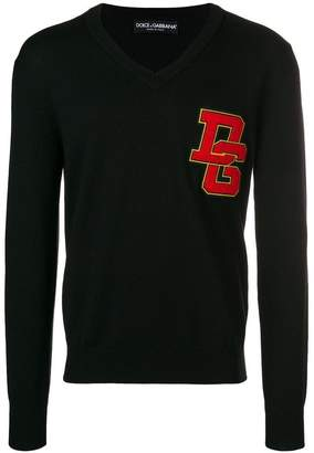 Dolce & Gabbana chest logo knit sweater