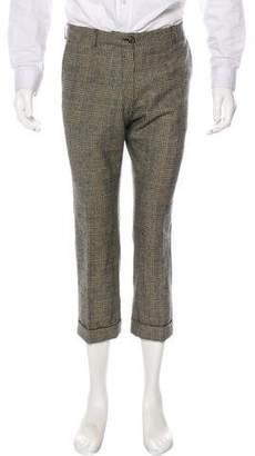 Dries Van Noten Houndstooth Wool Dress Pants