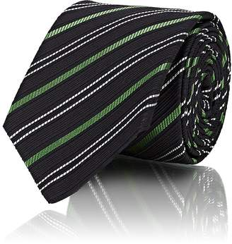 Gucci Men's Striped Textured Silk-Cotton Necktie