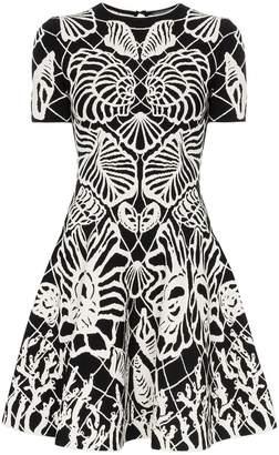 Alexander McQueen botanical print flared dress