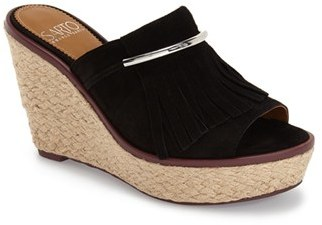 Women's Franco Sarto 'Candace' Wedge Mule $138.95 thestylecure.com