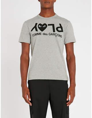 Comme des Garcons Reverse-logo-print cotton-jersey T-shirt