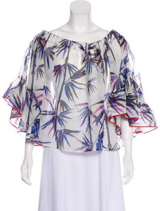 Emilio Pucci Off-The-Shoulder Printed Blouse