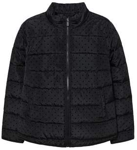 Violeta BY MANGO Polka dot quilted anorak