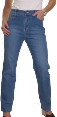 Ice High Waist Womens Plus Size Stretch Denim Straight Leg Jeans Mid 10-20