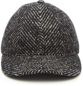 Burberry Herringbone Wool Baseball Cap