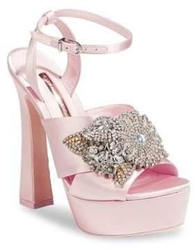 Sophia Webster Embellished Peep-Toe Platform Heels