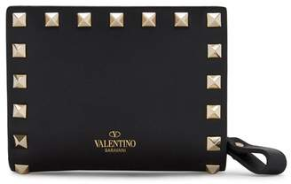 Valentino Rockstud Black Leather Wallet