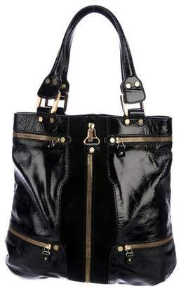 Jimmy Choo Mona Patent Leather & Suede Tote