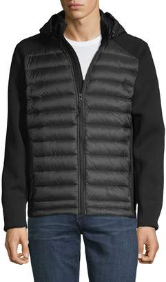 Saks Fifth Avenue Mixed Media Hooded Puffer Vest