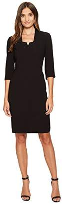 Tahari by Arthur S. Levine Women's Sheath Dress with 3/4 Sleeves and Notch Neckline