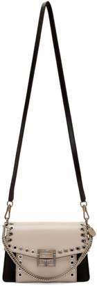 Givenchy White and Black Small GV3 Eyelet Bag
