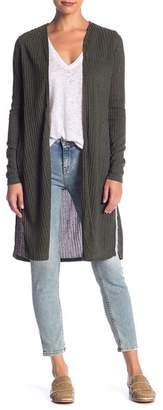 Blu Pepper Long Sleeve Ribbed Cardigan