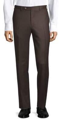 Canali Wool Flannel Dress Pants