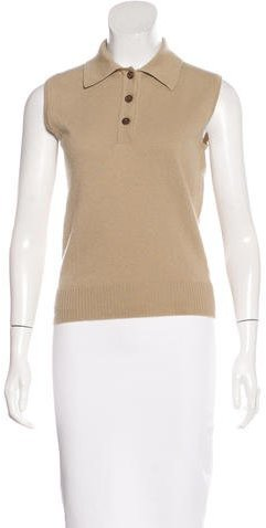 Chanel Collared Cashmere Top