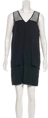 Jonathan Simkhai Mesh-Accented Mini Dress Black Mesh-Accented Mini Dress